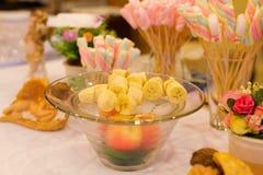 Fruit snacks Stock Images
