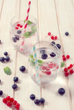 Fruit and soda water Royalty Free Stock Photos