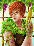 Fruit Soldier. A unique parody illustration depicted a female soldier Royalty Free Stock Photos