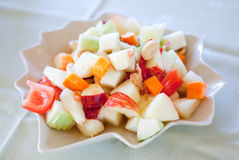 Fruit Som tum (Thai style Fruit salad). Fruit Som tum (Thai style spicy Fruit salad stock photos