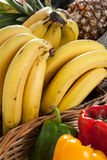 Fruit. Some bananas for eat on the table Royalty Free Stock Photography