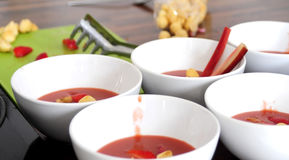 Fruit soup for sunny summer day Stock Photography