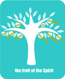 Fruit of the Spirit. The fruits of the spirit according to the Epistle to the Galatians Stock Images