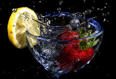 Fruit Splash. Ed in a glass Stock Images
