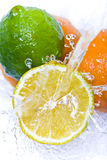 Fruit splash Stock Photography