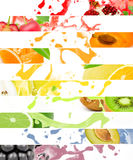 Fruit splash Stock Photography
