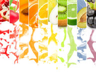 Fruit splash Stock Photos