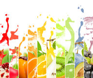 Fruit splash royalty free stock image