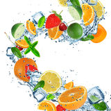 Fruit with splashing water Royalty Free Stock Photography