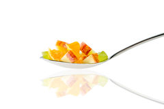Fruit spoon Royalty Free Stock Photos