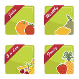 Fruit squares Royalty Free Stock Image