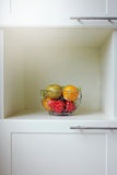 Fruit in the stainless basket Royalty Free Stock Photo