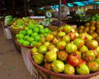 Fruit stall. Stall at Vietnamese market at Sa Pa region Royalty Free Stock Photos