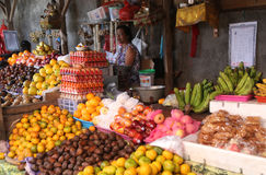 Fruit stall in Balinese market Royalty Free Stock Image