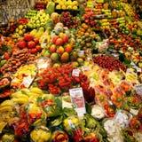 Fruit stall. In Barcelona's La Boquería market Stock Photography
