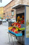 Fruit stall in downtown st. petersburg Royalty Free Stock Photos