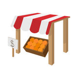 Fruit stall icon, cartoon style Stock Photography