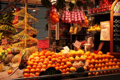 Fruit stall at La Boqueria,Barcelona Royalty Free Stock Photography