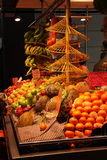 Fruit stall at La Boqueria,Barcelona Royalty Free Stock Photos