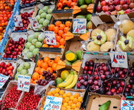 Fruit stall on a London street. Fruit stall selling all sorts of soft and hard fruit Royalty Free Stock Photography
