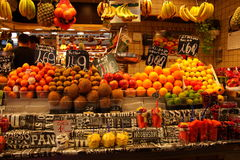 Fruit stall at market,Barcelona Stock Images