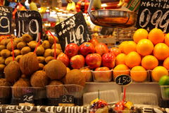 Fruit stall at market,Barcelona Stock Images
