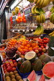 Fruit stall at market,Barcelona Royalty Free Stock Photography
