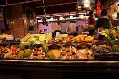 Fruit stall at market,Barcelona Royalty Free Stock Photos