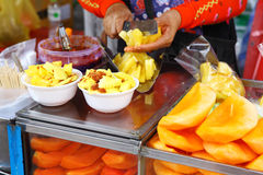 Fruit stall on street market Stock Photography