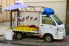 Fruit stalls in Caribbean Royalty Free Stock Photo