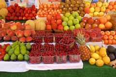 Fruit stalls in Italy. Variety at the fruit stalls in Venice, Italy Royalty Free Stock Images