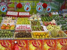 Fruit stalls in Malaysia Royalty Free Stock Photo