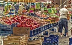 Fruit stalls Royalty Free Stock Images