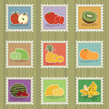 Fruit stamps Royalty Free Stock Photo