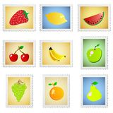 Fruit stamps vector Stock Photography