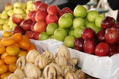 Fruit Stand. In Peruvian market place Royalty Free Stock Images