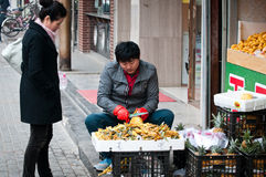 Fruit stand in Beijing Royalty Free Stock Images