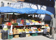 Fruit stand in Chelsea neighborhood in Manhattan Royalty Free Stock Photography