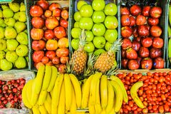 Free Fruit Stand Detail Healthy Food Lemon Marketplace Stock Images - 158357834