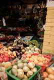 A fruit stand on a food market in South America royalty free stock photos