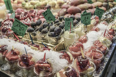 Fruit stand at a grocery store Royalty Free Stock Image