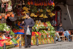Fruit Stand in Istanbul Stock Images