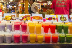 Fruit stand in La Boqueria, Barcelona Stock Photos