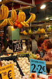 Fruit stand at market,Barcelona Stock Image