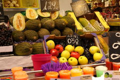 Fruit stand at market,Barcelona Stock Images