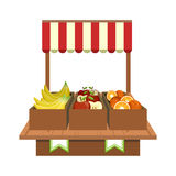 Fruit Stand On The Market Stock Photography
