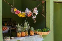 Fruit stand in a market Stock Photos