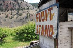 Fruit Stand. Old abandoned fruit stand Cache Creek Royalty Free Stock Photos