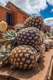 Fruit stand. Pineapple road stand in Antananarivo Stock Photo