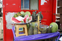 Fruit stand on the roadside Royalty Free Stock Image